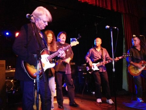L-R, Ken Greer, Jeff Jones, Burton Cummings, Tom Cochrane, Gary Craig