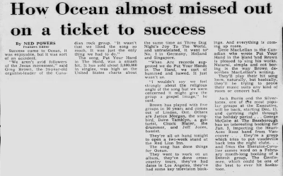 How Ocean Almost Missed Out On A Ticket To Success