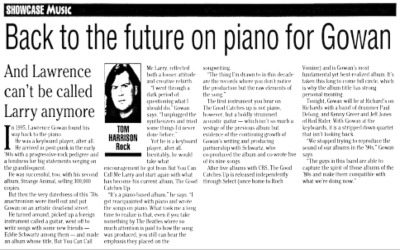 Back To The Future On Piano For Gowan