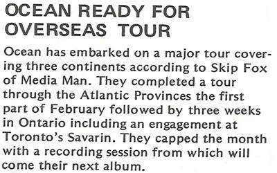 Ocean Ready For Overseas Tour