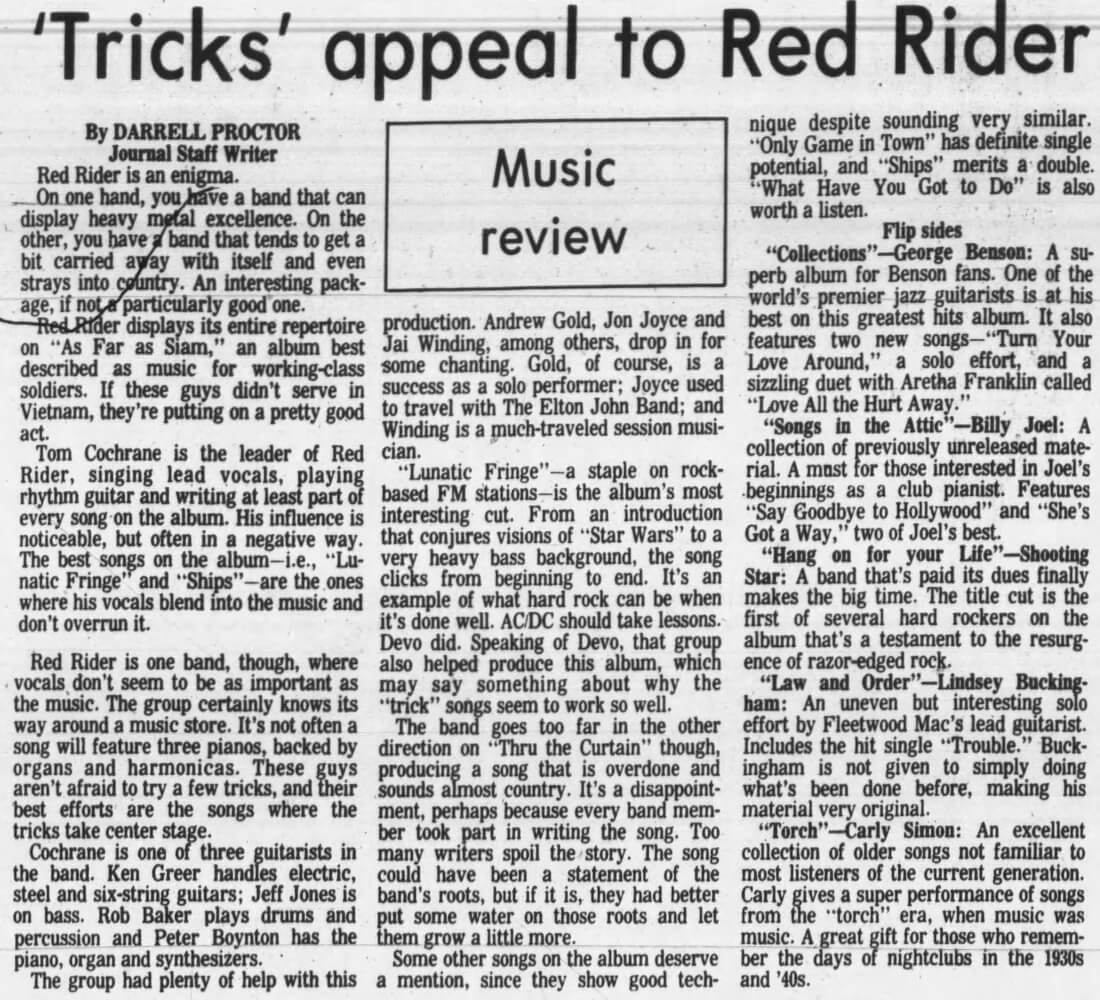 Tricks Appeal To Red Rider