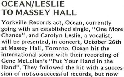 Ocean/Leslie to Massey Hall