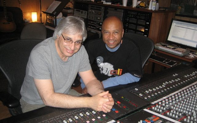 Joe Vannelli and Jeff Jones during the recording of Burton Cummings' Above The Ground