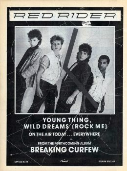 Red Rider Young Thing Wild Dreams Music Magazine Advert