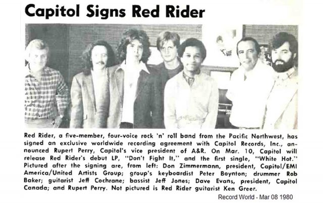 Capitol Records Sign Red Rider
