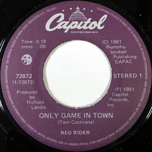 Only Game In Town - Red Rider