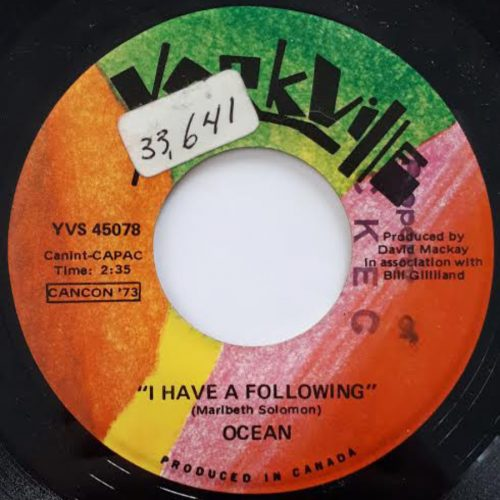 I Have A Following - Ocean