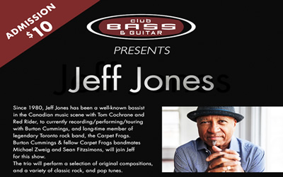 Jeff Jones at Club Bass and Guitar