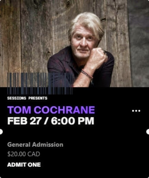 Tom Cochrane - Sessions
