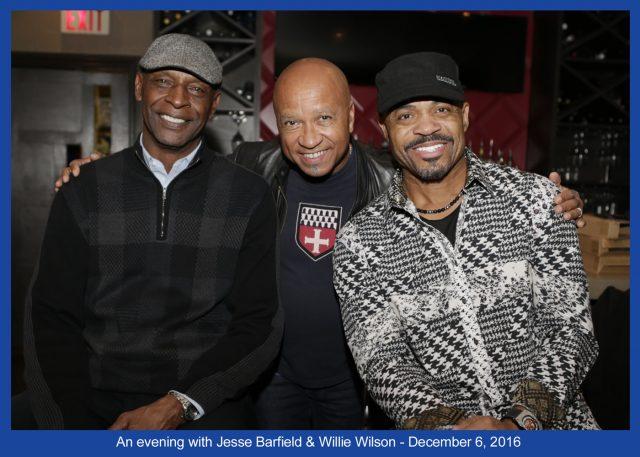 Jeff pictured with 2 former MLB stars Willie Wilson (KC Royals) and Jesse Barfield (Blue Jays). By Francine Birken at www.distinctivefoto.com