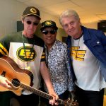 Ken, Jeff and Tom at the Edmonton Eskimos home opener. June 14th 2019