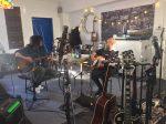 Jeff Jones recording with Gerry Finn at Ken Friesen's studio (Signal Path)