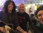Jeff Jones with Gerry Finn and Jackie Skinner at Ken Friesens's Signal Path Studios